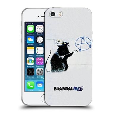 Official Brandalised Banksy Textured Art Hollywood Rat Soft Gel Case For Apple Iphone 5 / 5S / Se