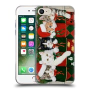 Official Christmas Mix Pets William Vanderdasson Kittens Soft Gel Case for Apple iPhone 7