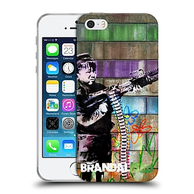Official Brandalised Banksy Coloured Art Crayon Shooter Soft Gel Case For Apple Iphone 5 / 5S / Se