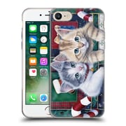 Official Christmas Mix Pets Jenny Newland Calendar Kittens Soft Gel Case for Apple iPhone 7