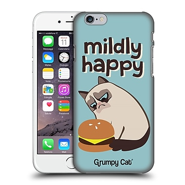 Official Grumpy Cat Grumpmoji Mildly Happy Hard Back Case For Apple Iphone 6 / 6S