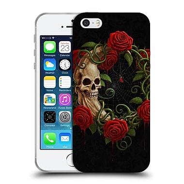 Official Christos Karapanos Horror Skeleton Moon Red Soft Gel Case for Apple iPhone 5 / 5s / SE