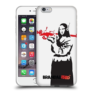Official Brandalised Banksy Red Black Art Mona Launcher Soft Gel Case For Apple Iphone 6 Plus / 6S Plus