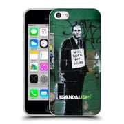 Official Brandalised Banksy Textured Art Work For Idiots Soft Gel Case For Apple Iphone 5C