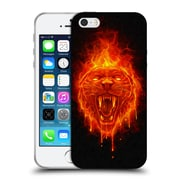 Official Christos Karapanos Horror Flaming Cat Soft Gel Case for Apple iPhone 5 / 5s / SE