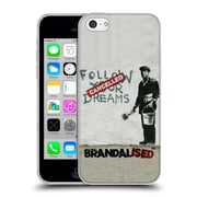 Official Brandalised Banksy Wall Art Follow Your Dreams Soft Gel Case For Apple Iphone 5C