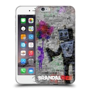Official Brandalised Banksy Coloured Art Robot Soft Gel Case For Apple Iphone 6 Plus / 6S Plus