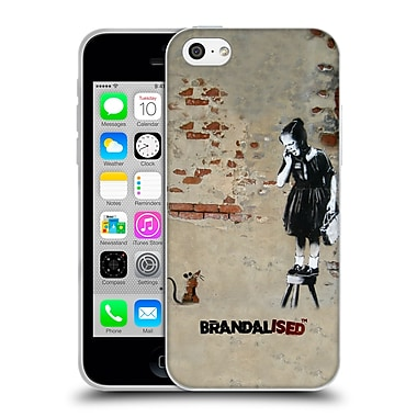 Official Brandalised Banksy Textured Art Girl On A Stool Soft Gel Case For Apple Iphone 5C