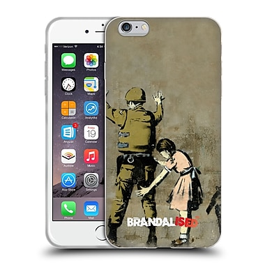 Official Brandalised Banksy Tags Soldier Frisk Soft Gel Case For Apple Iphone 6 Plus / 6S Plus
