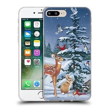 Official Christmas Mix Winter Wonderland William Vanderdasson Gathering Soft Gel Case for Apple iPhone 7 Plus