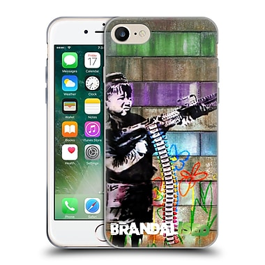 Official Brandalised Banksy Coloured Art Crayon Shooter Soft Gel Case For Apple Iphone 7