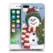 Official Christmas Mix Snowman William Vanderdasson Holding Soft Gel Case for Apple iPhone 7 Plus