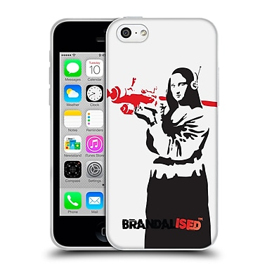 Official Brandalised Banksy Red Black Art Mona Launcher Soft Gel Case For Apple Iphone 5C
