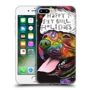 Official Christmas Mix Pets Dean Russo Pitbull Soft Gel Case for Apple iPhone 7 Plus