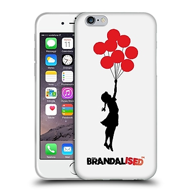 Official Brandalised Banksy Red Black Art Jerusalem Balloons Soft Gel Case For Apple Iphone 6 / 6S