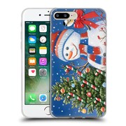 Official Christmas Mix Snowman William Vanderdasson Decorating Tree Soft Gel Case for Apple iPhone 7 Plus