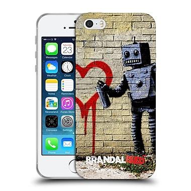 Official Brandalised Banksy Vandals Robot Soft Gel Case For Apple Iphone 5 / 5S / Se
