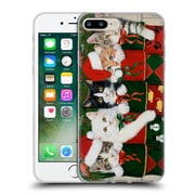 Official Christmas Mix Pets William Vanderdasson Kittens Soft Gel Case for Apple iPhone 7 Plus