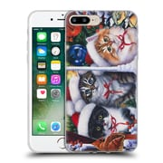 Official Christmas Mix Pets Jenny Newland Cats In Window Soft Gel Case for Apple iPhone 7 Plus
