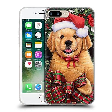 Official Christmas Mix Pets Jenny Newland Puppy Soft Gel Case for Apple iPhone 7 Plus