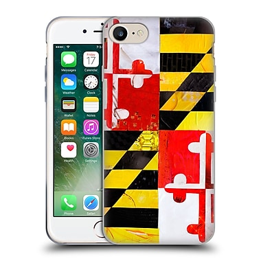 Official Artpoptart Flags Maryland Soft Gel Case For Apple Iphone 7