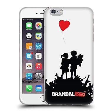 Official Brandalised Banksy Red Black Art Bombsite Love Soft Gel Case For Apple Iphone 6 Plus / 6S Plus