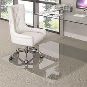 "Deflecto Glass 60""x60"" Recycled Rectangle Chair mat (CMG7743)"