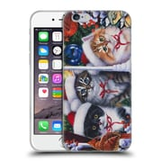 Official Christmas Mix Pets Jenny Newland Cats In Window Soft Gel Case for Apple iPhone 6 / 6s