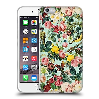 Official Burcu Korkmazyurek Birds and Floral Mint Soft Gel Case for Apple iPhone 6 Plus / 6s Plus