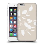 Official Caitlin Workman Organic Spring Leaf White Tan Soft Gel Case for Apple iPhone 6 Plus / 6s Plus