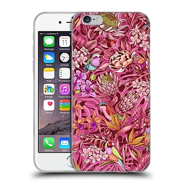 Official Celandine Tropical Pattern Stand Out Calmer Red Soft Gel Case for Apple iPhone 6 / 6s