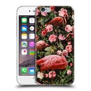 Official Burcu Korkmazyurek Birds and Floral Floral And Flamingo Soft Gel Case for Apple iPhone 6 / 6s