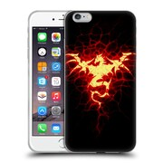 Official Christos Karapanos Dragons Mark Stamp Fire Soft Gel Case for Apple iPhone 6 Plus / 6s Plus