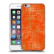Official Caitlin Workman Patterns Cross Hatch Orange Soft Gel Case for Apple iPhone 6 Plus / 6s Plus