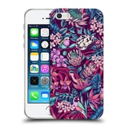 Official Celandine Tropical Pattern Stand Out Ultraviolet Soft Gel Case for Apple iPhone 5 / 5s / SE