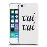 Official Caitlin Workman Typography Oui Oui Soft Gel Case for Apple iPhone 5 / 5s / SE