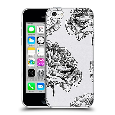 Official Caitlin Workman Black and White Roses Soft Gel Case for Apple iPhone 5c