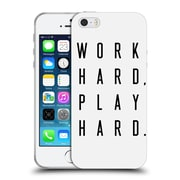 Official Caitlin Workman Typography Work Hard Play Hard Soft Gel Case for Apple iPhone 5 / 5s / SE