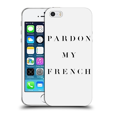 Official Caitlin Workman Typography Pardon My French Soft Gel Case for Apple iPhone 5 / 5s / SE