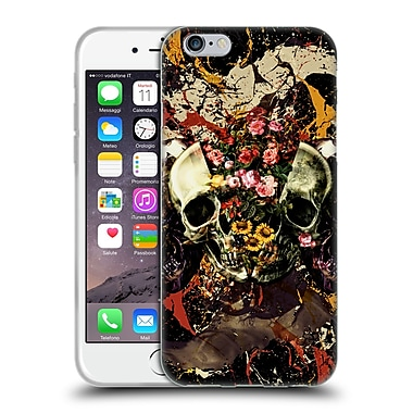Official Burcu Korkmazyurek Skulls Floral II Soft Gel Case for Apple iPhone 6 / 6s