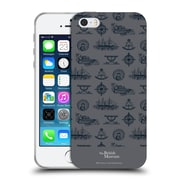 Official British Museum Adventure and Discovery Nautical Gray Soft Gel Case for Apple iPhone 5 / 5s / SE