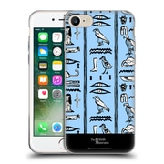 Official British Museum Ancient Egypt Blue Hieroglyphics Soft Gel Case for Apple iPhone 7