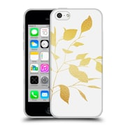 Official Caitlin Workman Organic Spring Leaf Gold Soft Gel Case for Apple iPhone 5c