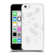 Official Caitlin Workman Organic Spring Leaf Grey White Soft Gel Case for Apple iPhone 5c