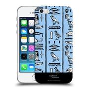 Official British Museum Ancient Egypt Blue Hieroglyphics Soft Gel Case for Apple iPhone 5 / 5s / SE