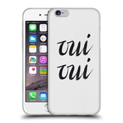 Official Caitlin Workman Typography Oui Oui Soft Gel Case for Apple iPhone 6 / 6s
