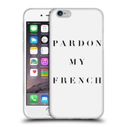 Official Caitlin Workman Typography Pardon My French Soft Gel Case for Apple iPhone 6 / 6s