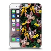 Official Burcu Korkmazyurek Animals Floral And Sphynx Cat Soft Gel Case for Apple iPhone 6 / 6s