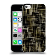 Official Caitlin Workman Patterns Cross Hatch Black Soft Gel Case for Apple iPhone 5c