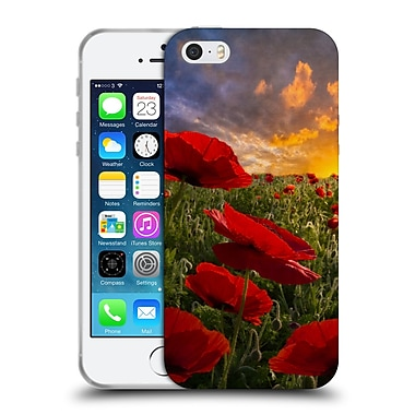 Official Celebrate Life Gallery Florals Poppy Field Soft Gel Case for Apple iPhone 5 / 5s / SE